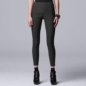 Vera Wang Women's Simply Vera Modern Twill Skinny Capri Leggings