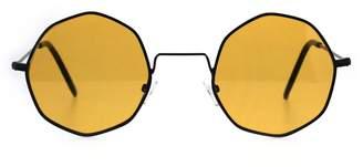 SA106 Dopy Color Lens Octagon Metal Wire Rim Pimp Hippie Sunglasses