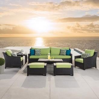 Three Posts Northridge 8 Piece Sofa Seating Group with Sunbrella Cushions