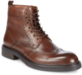 Saks Fifth Avenue Arrezzo Wingtip Leather Ankle Boots