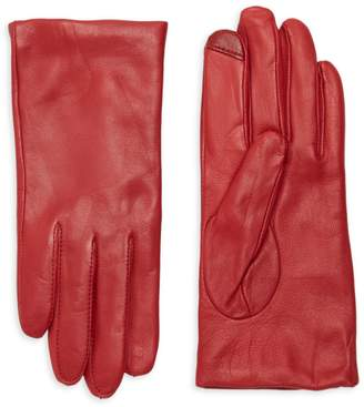 Saks Fifth Avenue Metisse Cashmere-Lined Leather Gloves