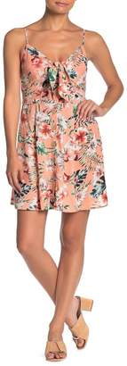 Band of Gypsies Floral Front Tie Mini Dress