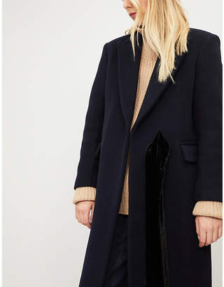 Sandro Peak-lapel wool-blend coat