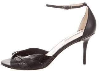 Charles David Leather Ankle-Strap Sandal