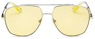 Marc Jacobs Women's Brow Bar Aviator Sunglasses, 58mm