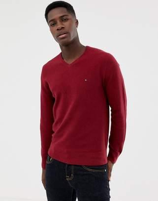 Tommy Hilfiger v neck logo sweater