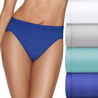 3a8c9d187ea Hanes Ultimate 4-pack + 1 Bonus Microfiber Cool Comfort Hi-Cut Panties  HXMFHB