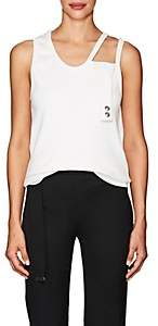 Helmut Lang Women's Stretch-Cotton Cutout-Shoulder Tank-White