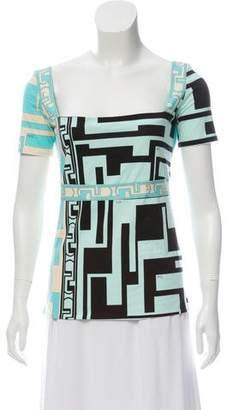 Emilio Pucci Graphic Print Short Sleeve T-Shirt