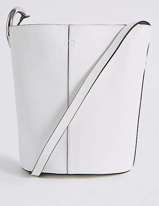 M&S Collection Faux Leather Ring Cross Body Bag
