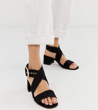 Asos Design DESIGN Hip Hop block heeled sandals in black