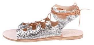 Ancient Greek Sandals Metallic Lace-Up Sandals