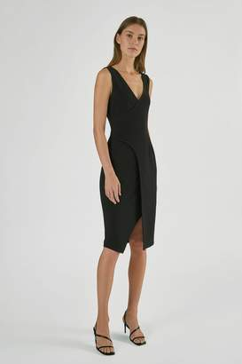 Yigal Azrouel Fit And Flare Mechanical Stretch Dress