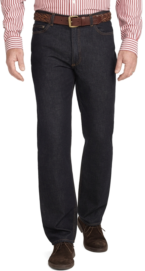Brooks Brothers Traditional Fit Five-Pocket Supima® Denim