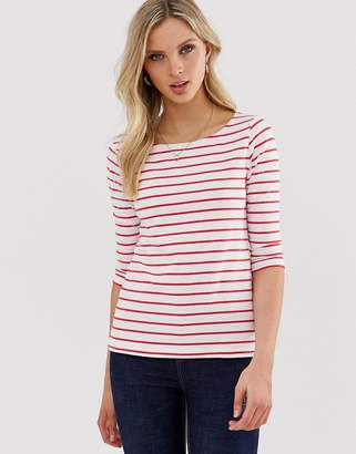 French Connection Tim Tim stripe long sleeved slash neck t-shirt