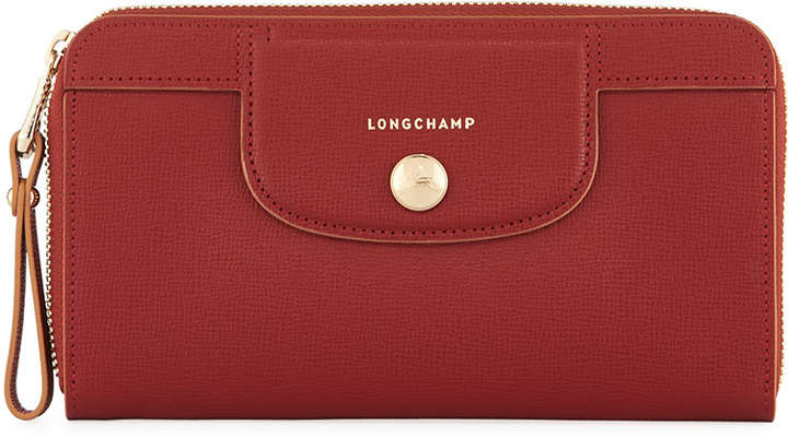 Longchamp Le Pliage Heritage Saffiano Leather Wristlet Wallet
