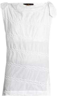Vivienne Westwood Shore zig-zag stitched top