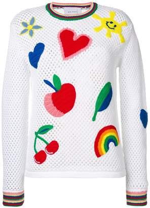 Mira Mikati embroidered rainbow jumper