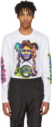 Versace White Long Sleeve Graffiti T-Shirt