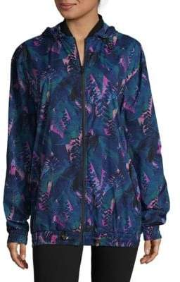 We Are Handsome Tropical-Inspired Hooded Zipper Jacket