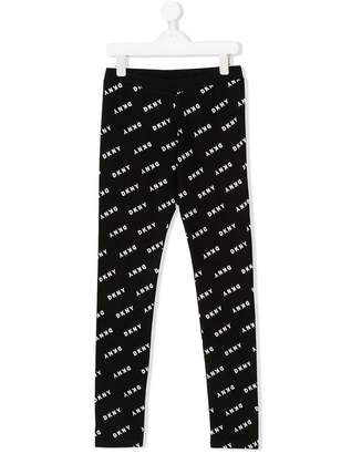 DKNY TEEN logo printed leggings