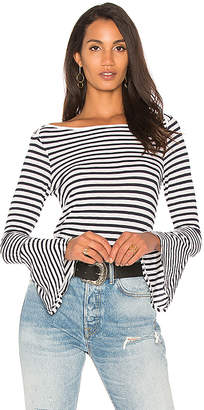 Splendid French Stripe Bell Sleeve Tee