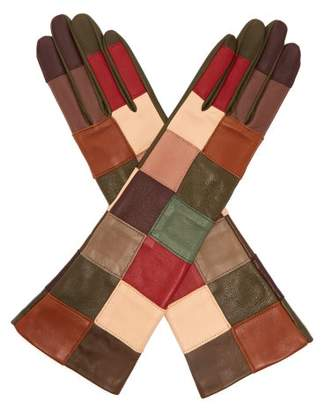 Agnelle Angelina Leather Patchwork Gloves - Womens - Multi