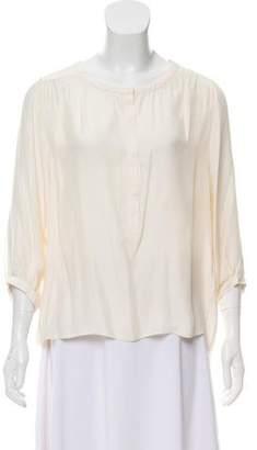 Rag & Bone Silk Long Sleeve Blouse