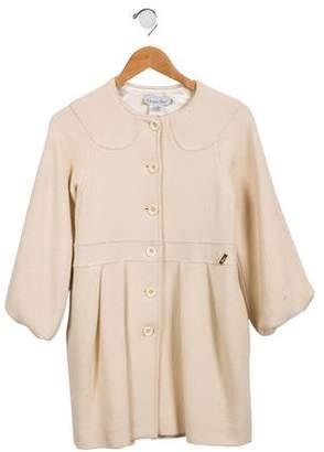 Christian Dior Girls' Wool Tweed Coat