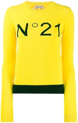 No.21 logo embroidered jumper