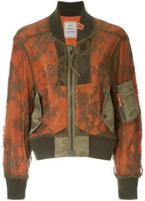 Puma Maison Yasuhiro lace bomber jacket