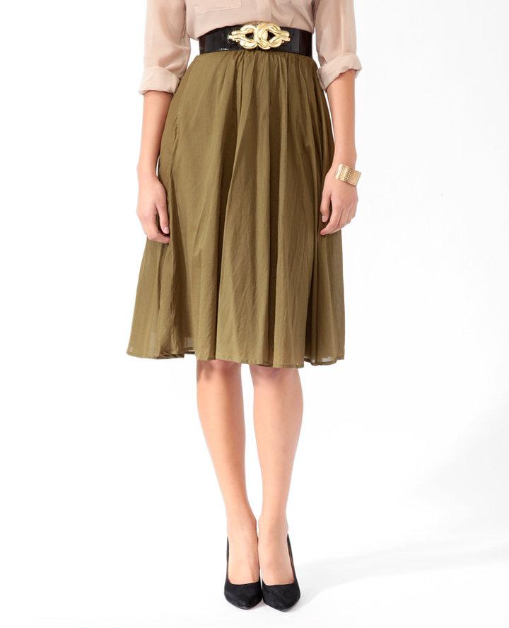 Love 21 Full Knee Length Skirt