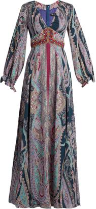 ETRO Paisley-print silk-habotai gown $4,235 thestylecure.com