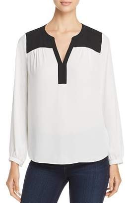 NYDJ Color-Block Peasant Top - 100% Exclusive