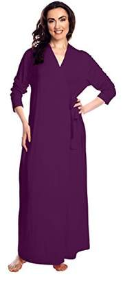 Shadowline Women's Plus-Size Women's Plus-Size Before Bed Long Wrap Robe