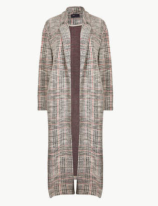 Marks and Spencer Textured Open Front Duster Coat