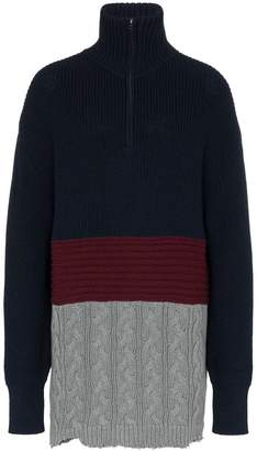 Balenciaga Oversized colour-block wool jumper