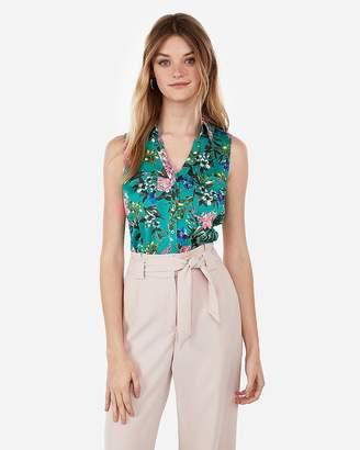 9439782f2bfc82 Express Slim Fit Floral Garden Sleeveless Portofino Shirt