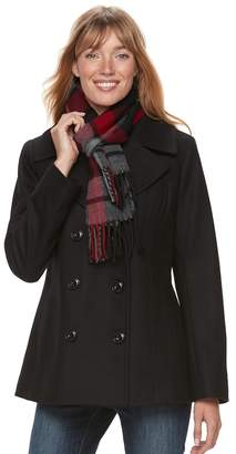 London Fog Tower By Women's TOWER by Wool Blend Peacoat