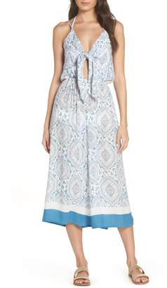 Surf Gypsy Tie Front Cover-Up Gaucho Jumpsuit