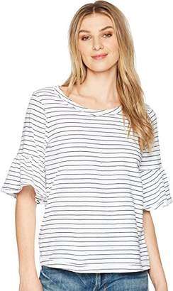 Splendid Women's Stripe Ruffle Tee