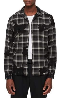 AllSaints Lilyplaid Slim Fit Flannel Shirt