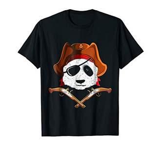 Panda Pirate T-Shirt Panda Bear Eye Patch Tee