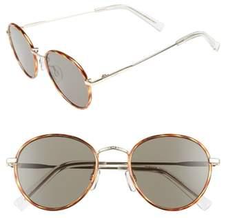 Le Specs Zephyr Deux 50mm Round Sunglasses