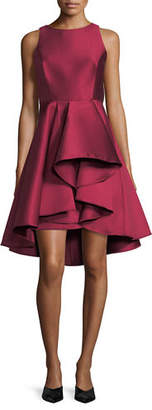 Halston Sleeveless Colorblock Fit-and-Flare Cocktail Dress