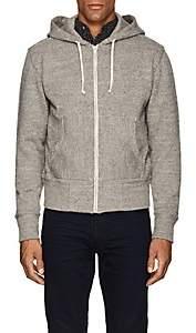 Rrl Men's Cotton-Wool Hoodie-Light Gray Size Xs