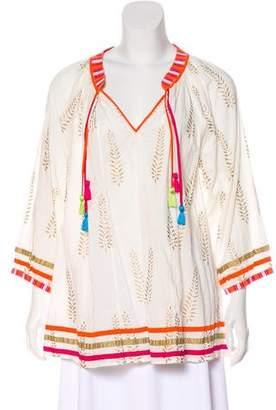 Calypso Printed Long Sleeve Tunic