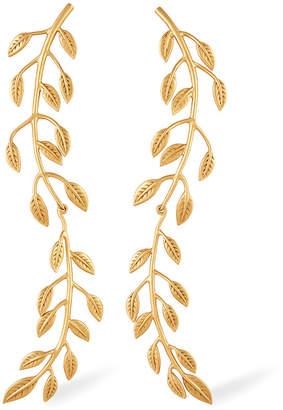 Rachel Zoe Sania Leaf Drop Earrings