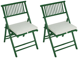 One Kings Lane Set of 2 Champion Side Chairs - Green