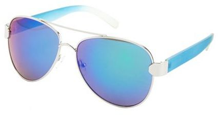 Charlotte Russe Matte Ombre Aviator Sunglasses